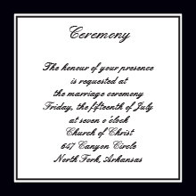 The Washington Ceremony Cards