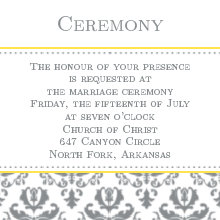 The Irving Ceremony Cards