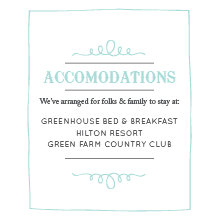 The Waterloo Accommodation Cards
