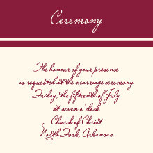 The Shreveport Ceremony Cards