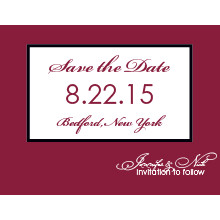 The Peoria Save-the-Date Card