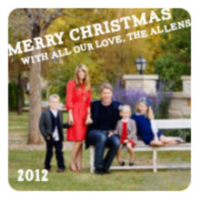 The Falling Snow Holiday Card