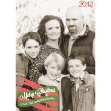 The Banner Tall Holiday Card