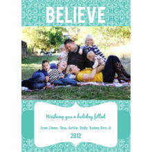 The Believe Holiday Card