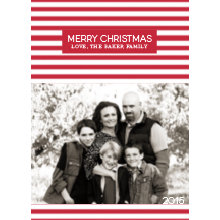 The Candy Cane Tall Holiday Card