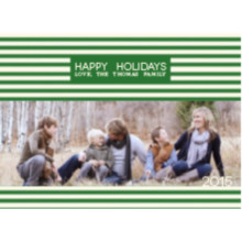 The Candy Cane Wide Holiday Card