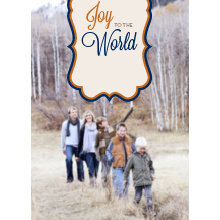 The Joy to the World Tall Holiday Card