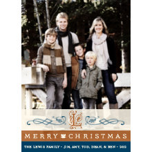 The Monogram Tall Holiday Card