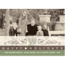 The Monogram Wide Holiday Card