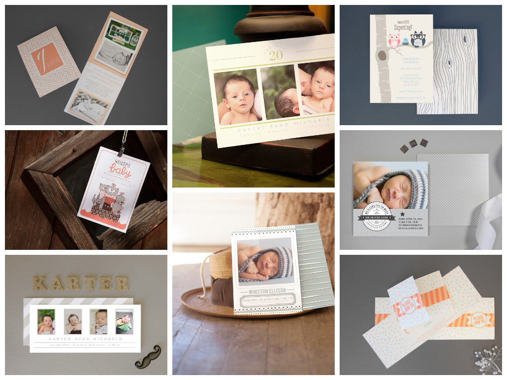 Birth Announcements and Baby Shower Invitations