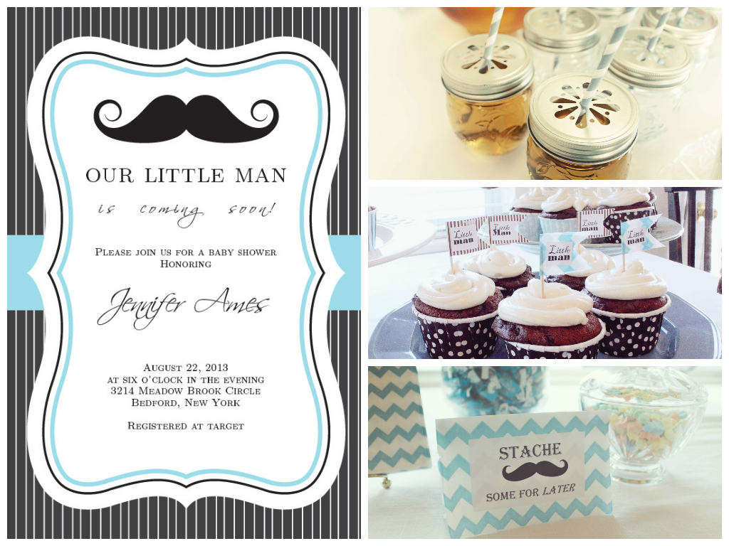 Captivating Mustache Baby Shower Theme: Real Baby Shower