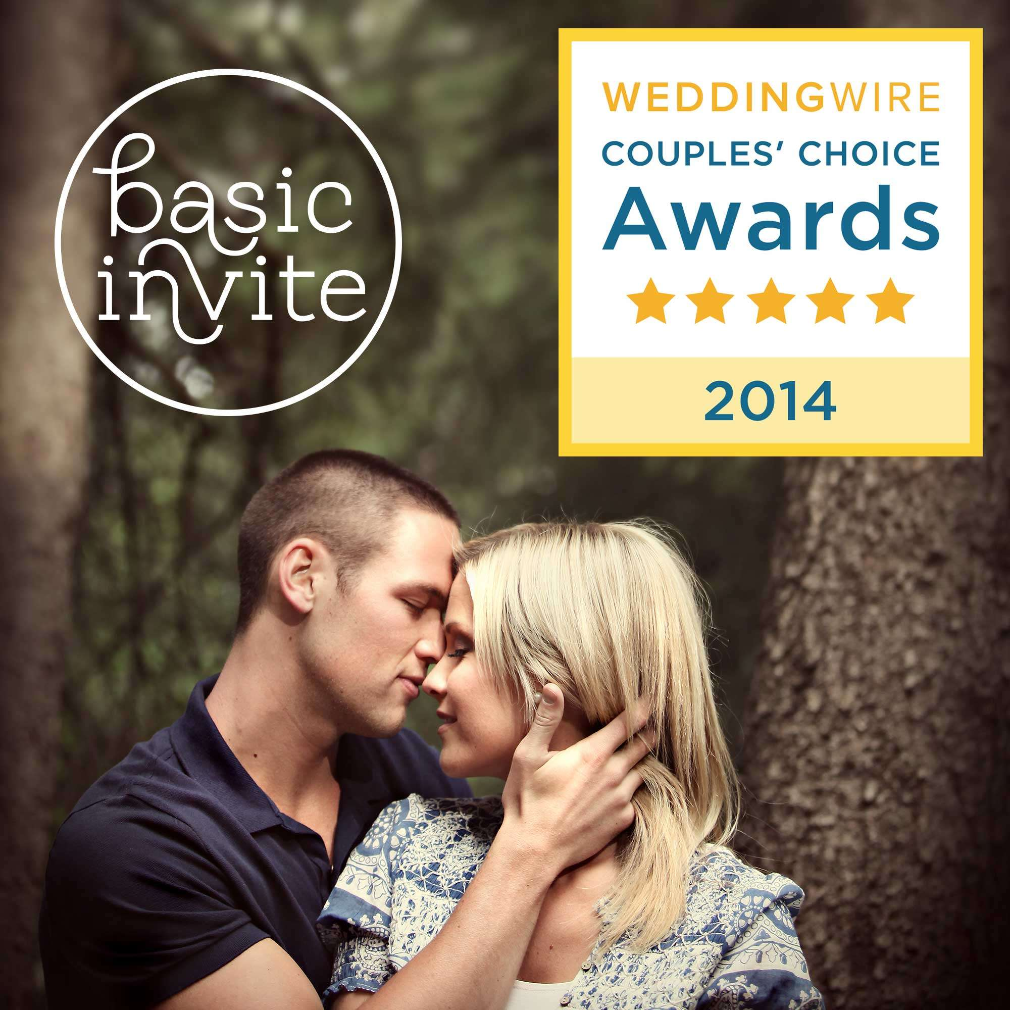 Basic Invite Wins Couples Choice Awards