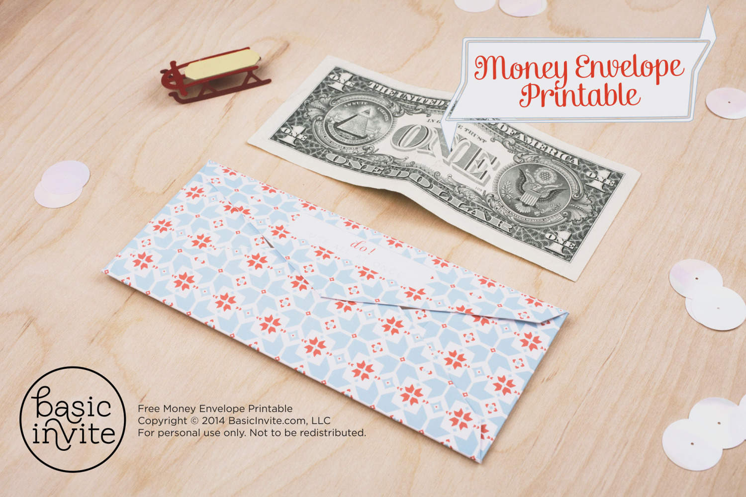 Money Envelope Printable