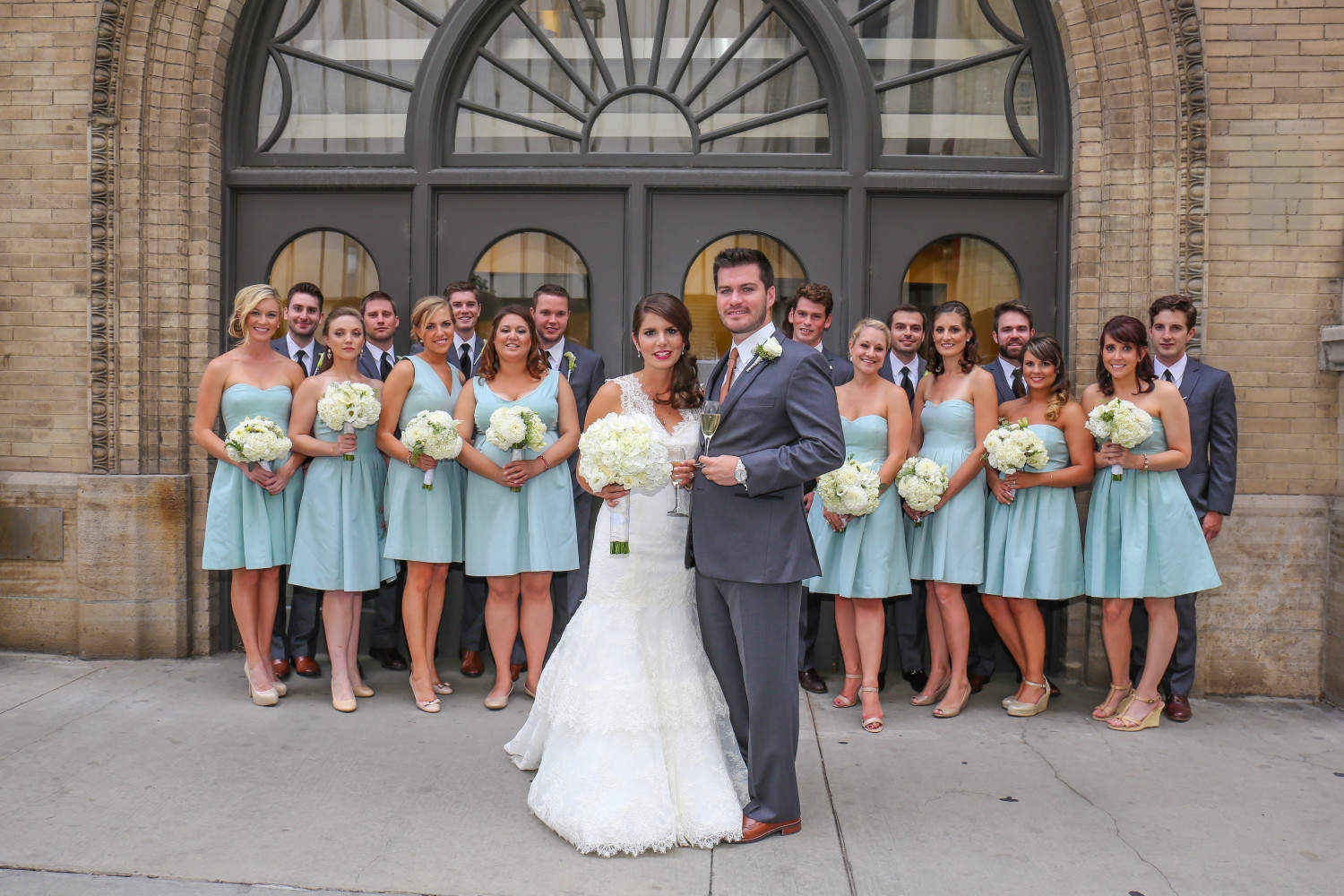 Bridal Party at the Ellie Caulkins Opera House www.aquinnphotography.om