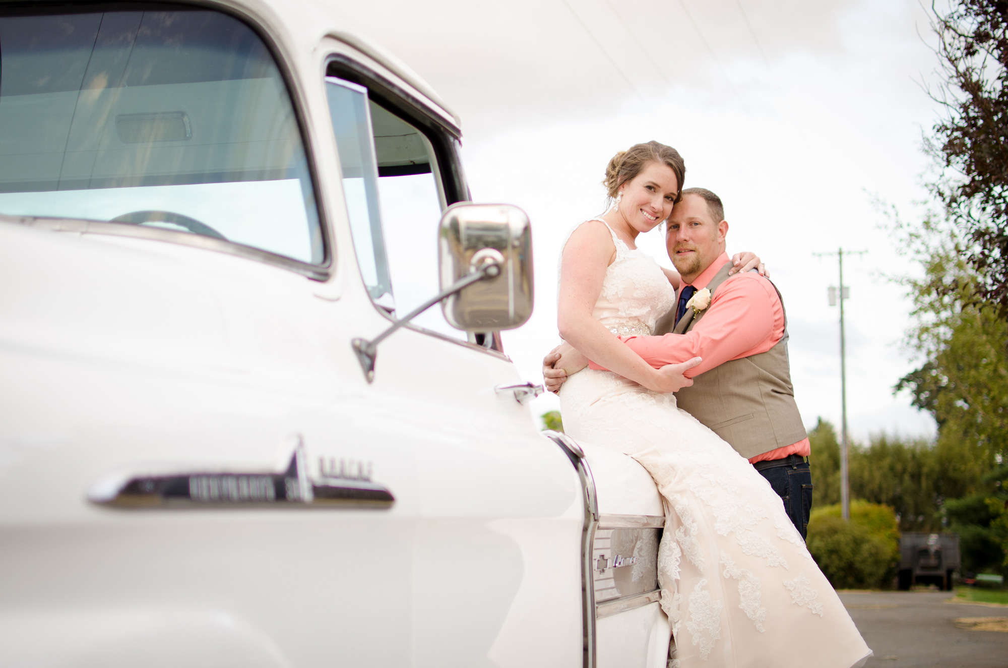 Bride and Groom Truck