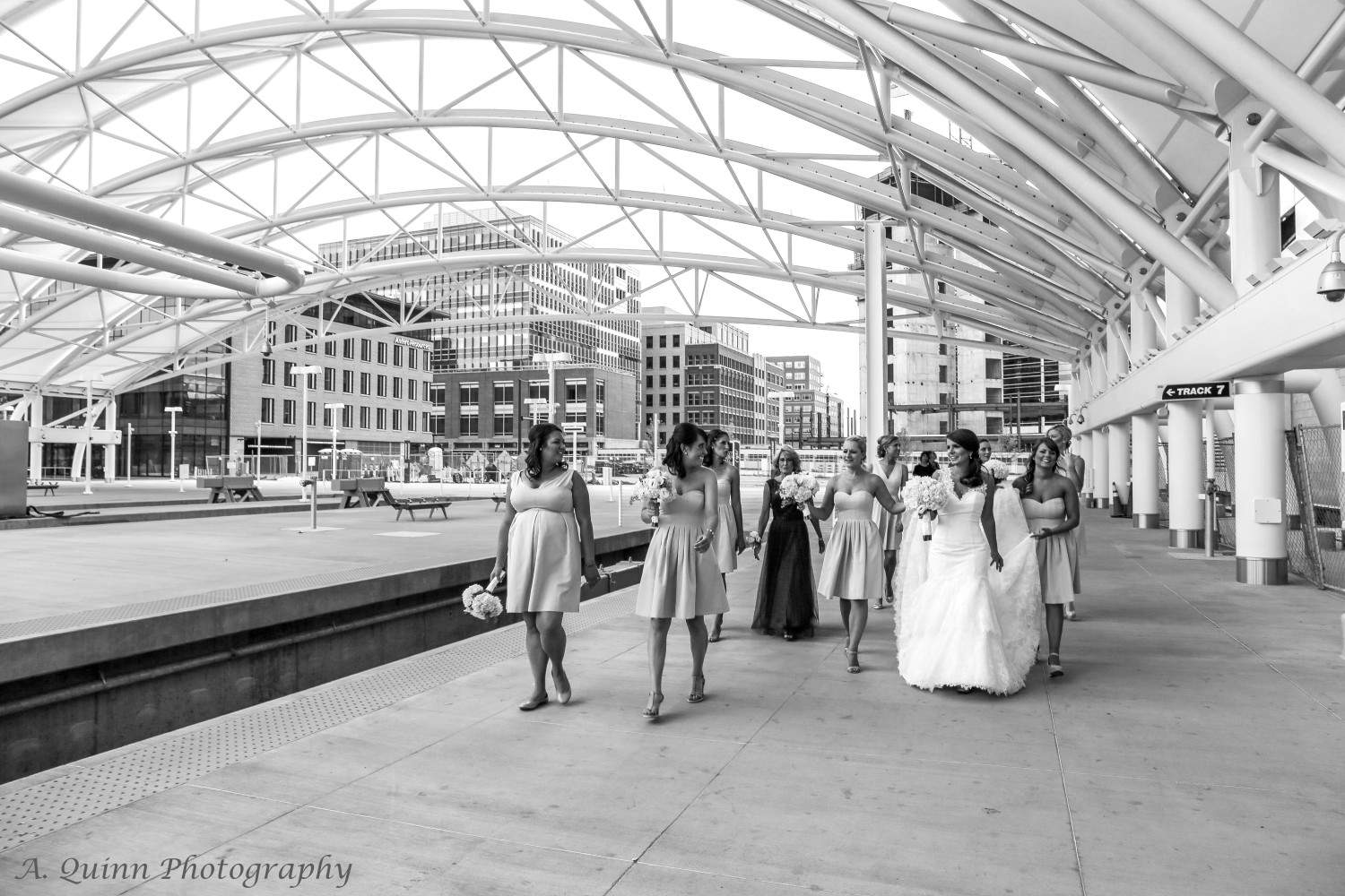 Walking through Union Station www.aquinnphotography.com