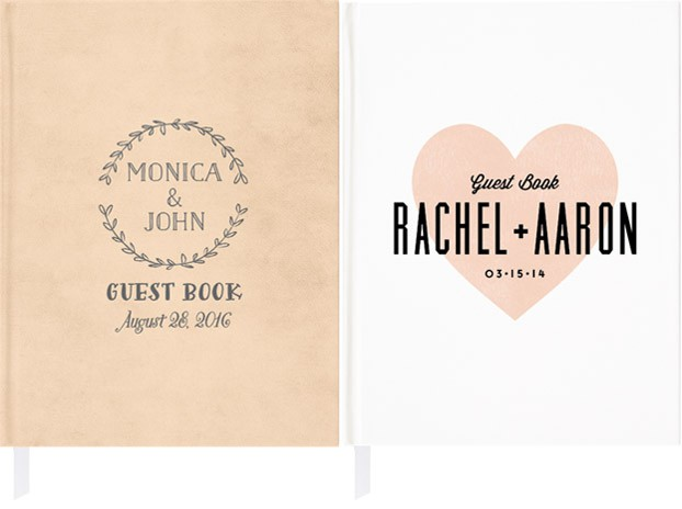 rustic wedding guest book