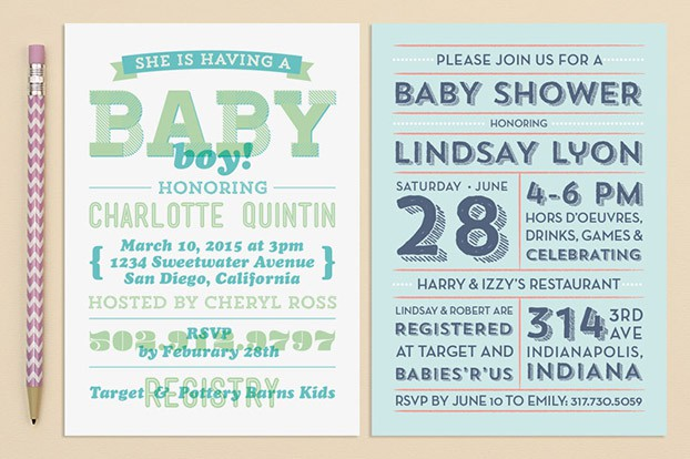baby boy birth announcement green