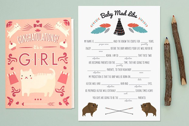 baby mad libs printable