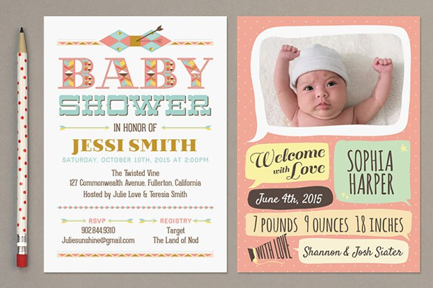 whimsical birth announcement