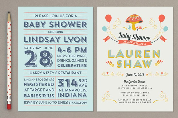 baby shower invitations with mushrooms
