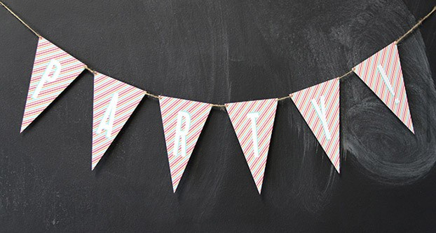 bunting party flags
