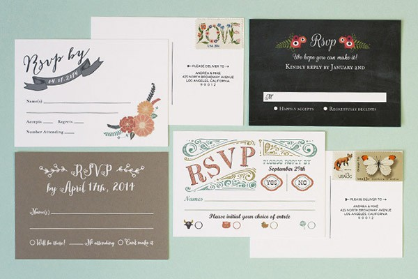 Unique Wedding Response Card Wording