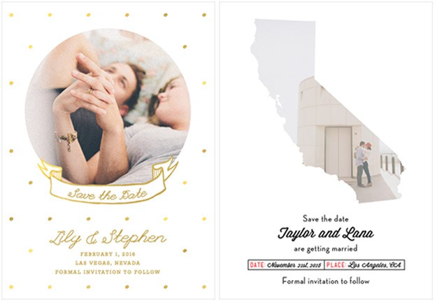 gold save the dates