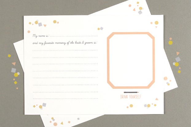wedding game printable template