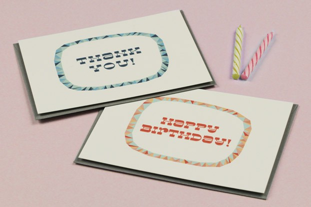 Modern Birthday Printables and Thank you Card Templates
