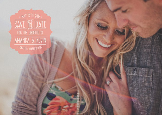 wedding save the date blush