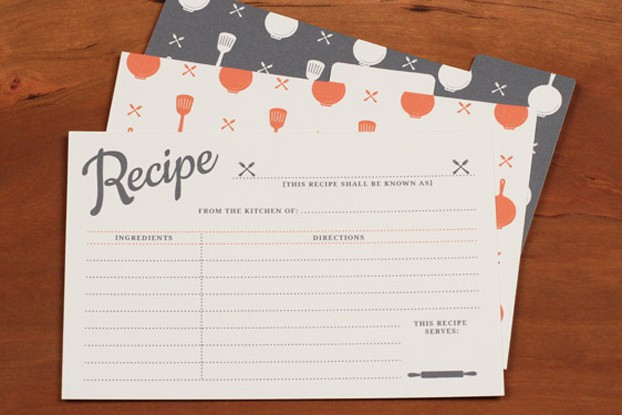 Vintage Recipe Card Printables
