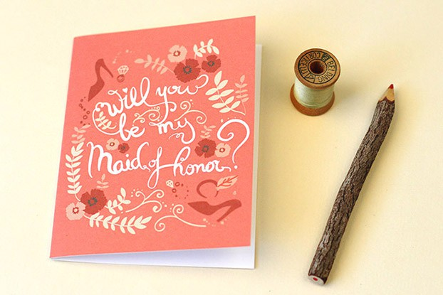 will you be my maid of honor printable