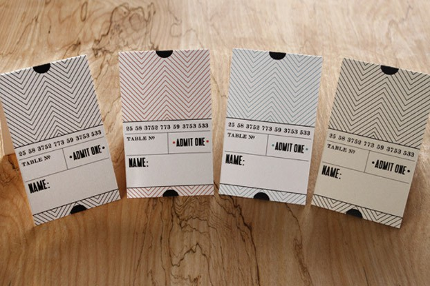 Printable Ticket Place Cards