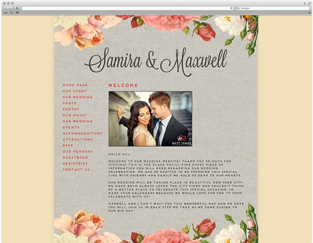 Free wedding websites from love vs design for Wedding picture sharing website