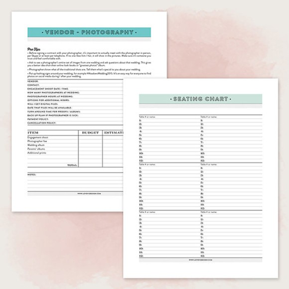 picture about Maid of Honor Printable Planner named Printable Wedding ceremony Planner PDF