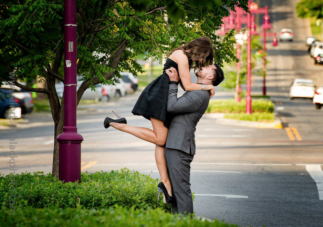 Utah Wedding Photographer | Lindsey Black | Ninth and Ninth Engagement Photo in the Street
