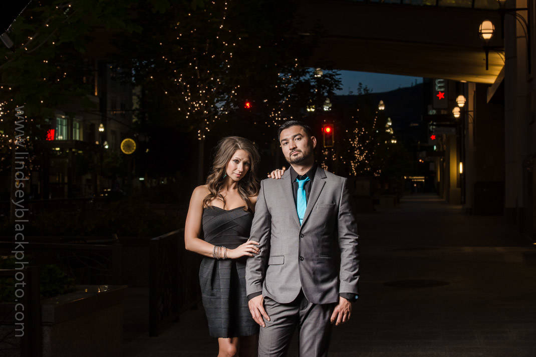 Utah Wedding Photographer | Lindsey Black | Downtown Salt Lake Engagements with a date night out theme