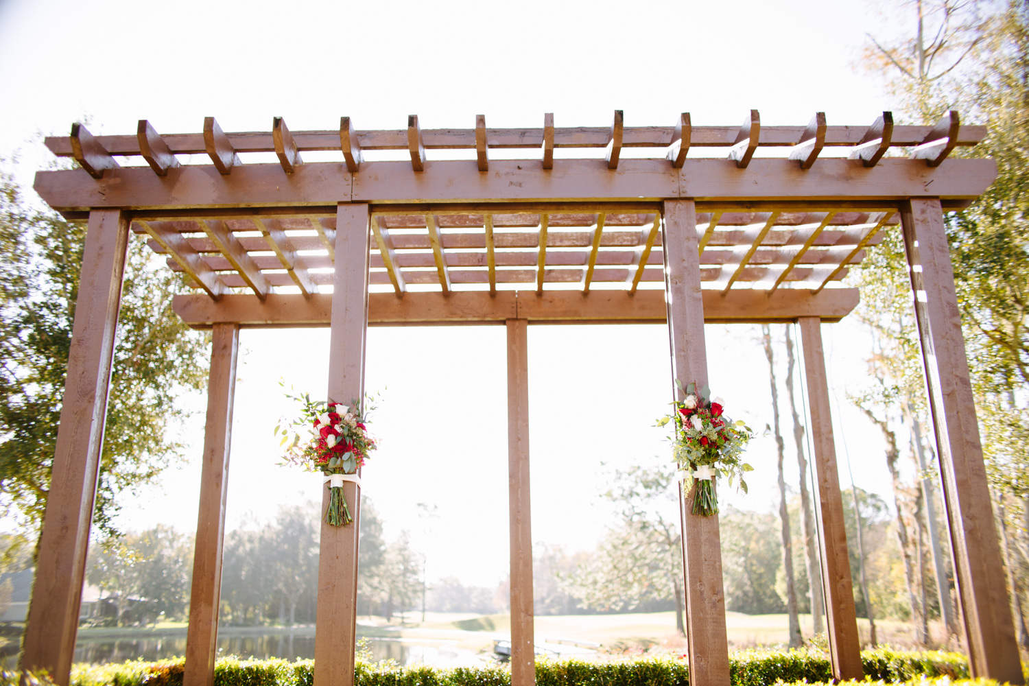 Floral inspiration for outdoor wedding ceremony in Florida