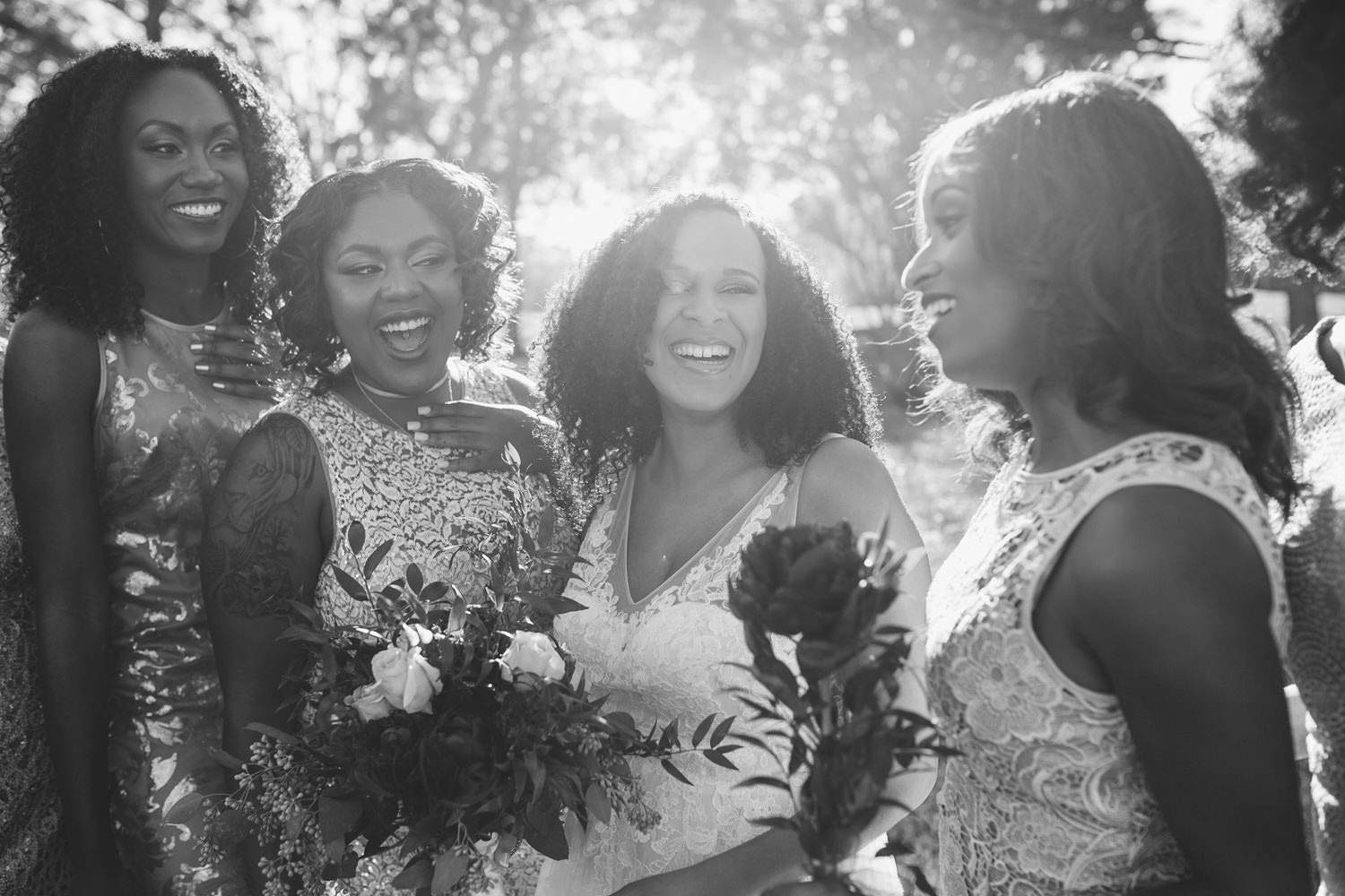 Laughing bridesmaids pictures