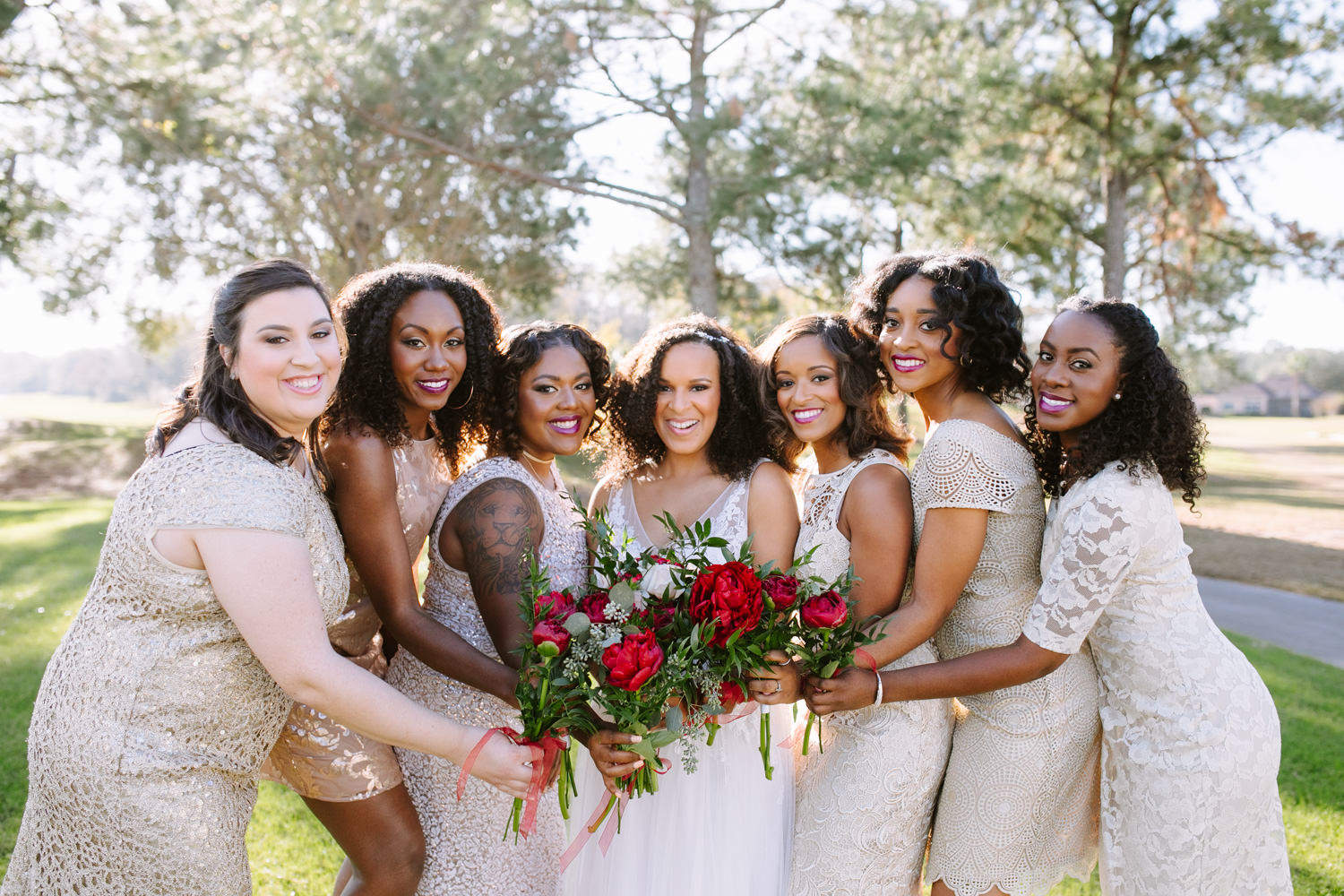 Champagne wedding colors Atlanta wedding photographer