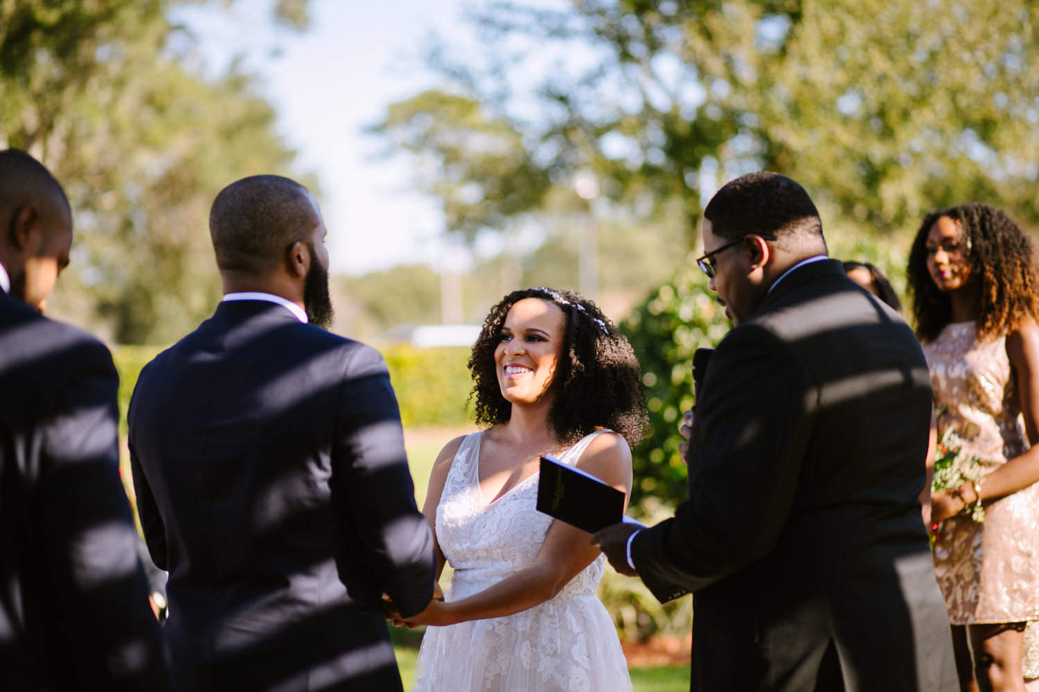 Atlanta wedding photographer outdoor winter ceremony