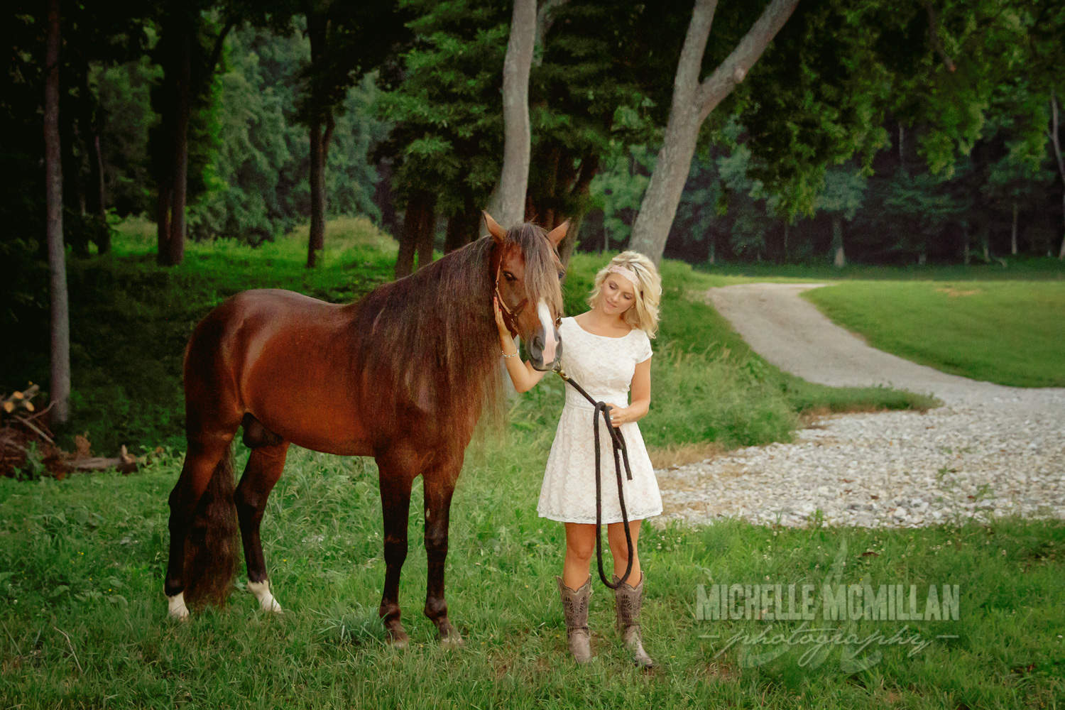 Senior girl with horse