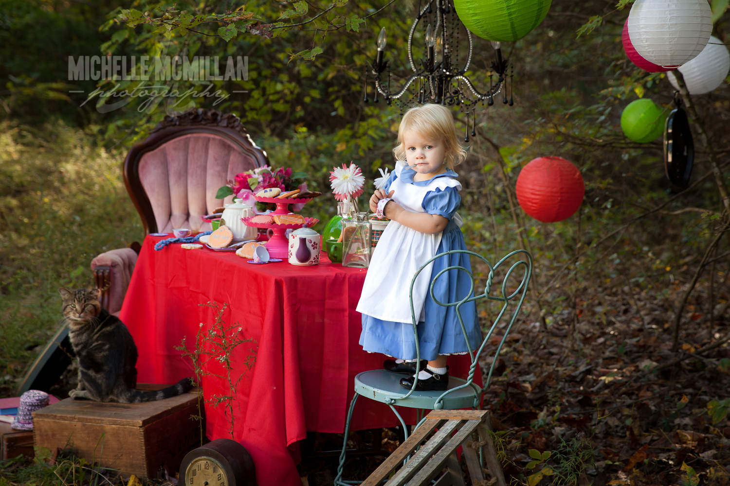 Alice in Wonderland themed session