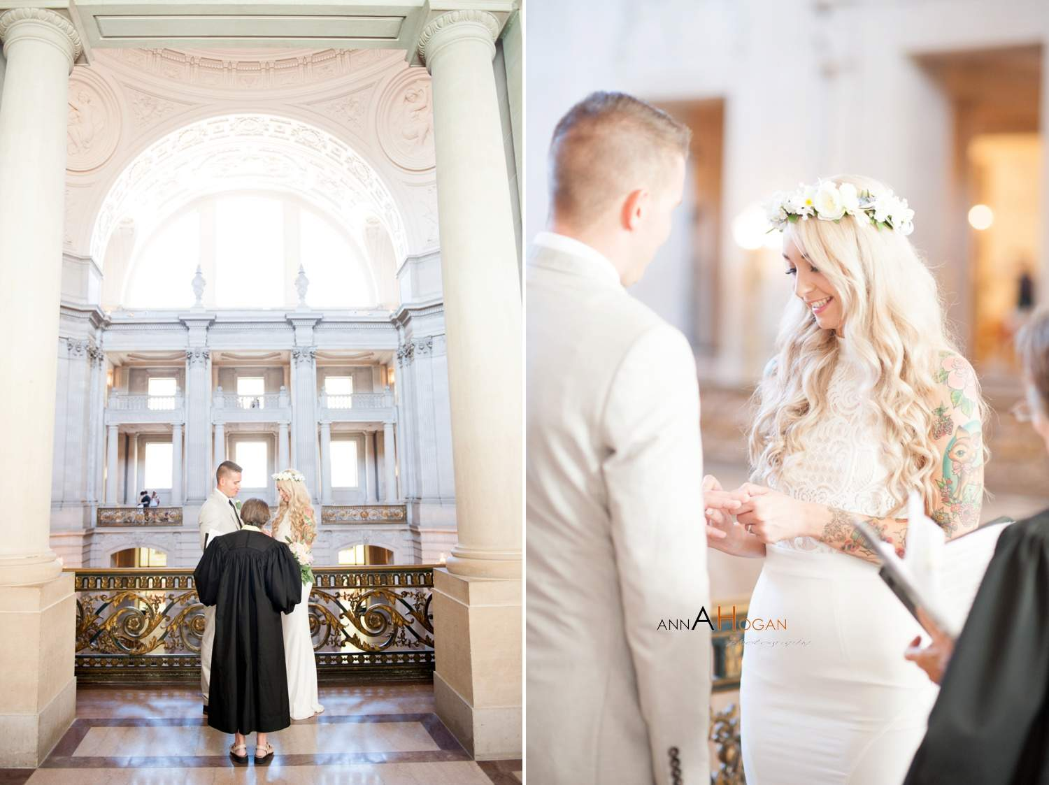 San Francisco City Hall Wedding Photographer Ceremony At 0005