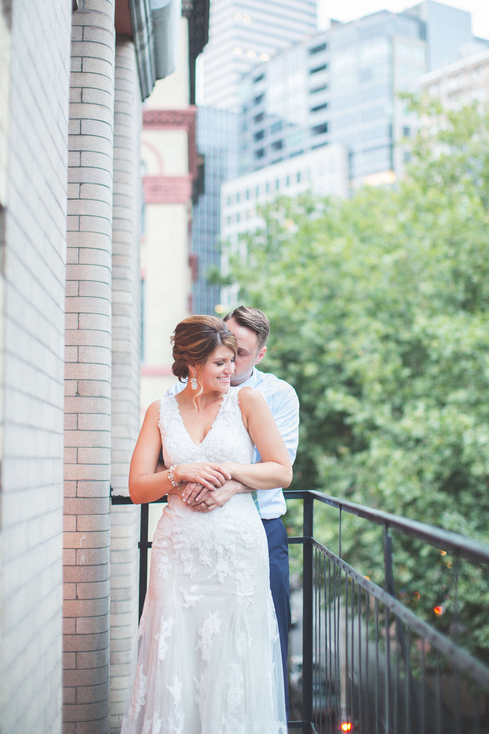 Bride and Groom Photo Downtown Seattle Wedding Photography