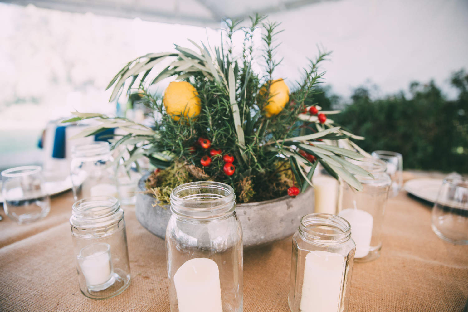Texas Winter Wedding, Austin,TX, The Inn at Old School, Wedding center pieces