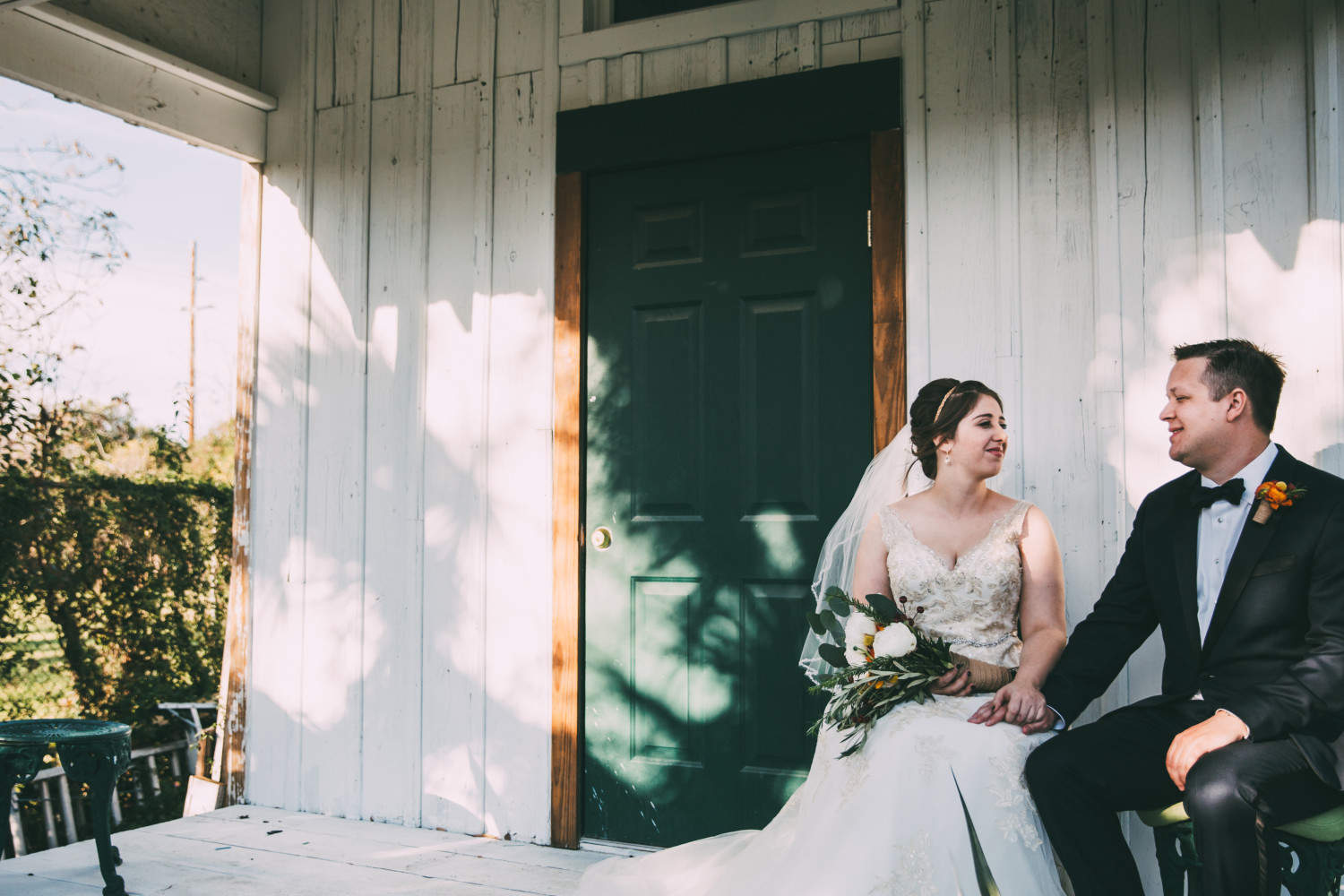 Texas Winter Wedding, Austin,TX, The Inn at Old School, bride and groom portraits