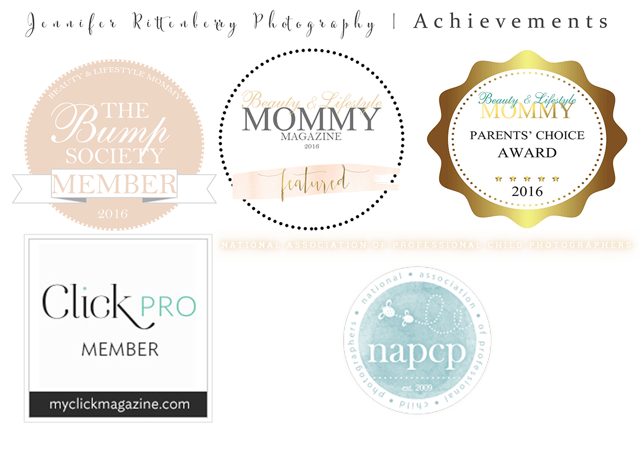 ClickPro | NAPCP | Beauty & Lifestyle Mommy Magazine | The Bump Society | Parent's Choice Award | Featured Artist | Jennifer Rittenberry Photography | Kentucky Newborn Photographer