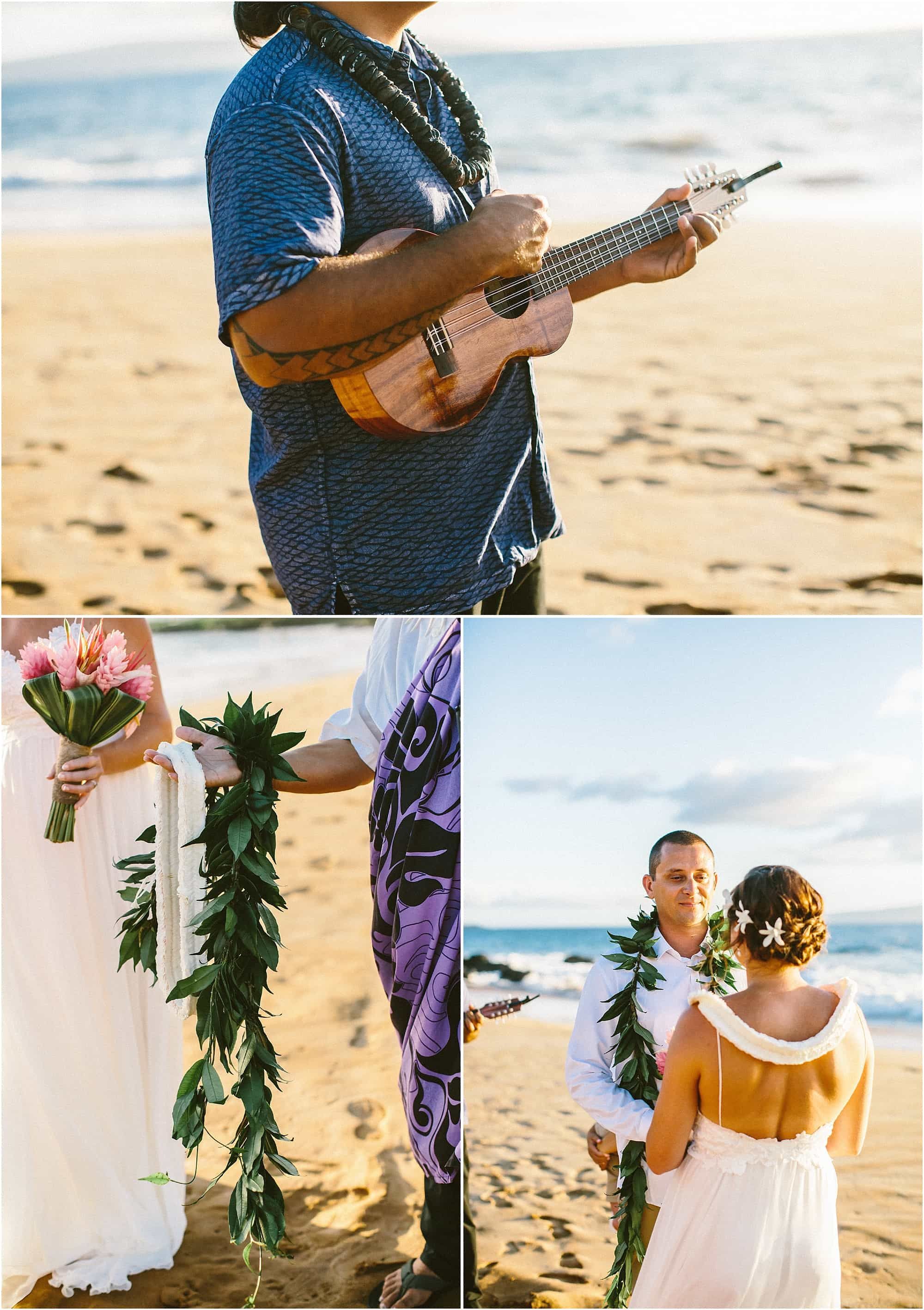 Intimate Maui Wedding by Amy J Short Photography and Maile Maui Weddings at Paipu Beach